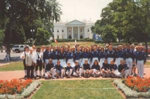 1993 Washington Weisses Haus: letzte Reihe, 4. Spielmann von links