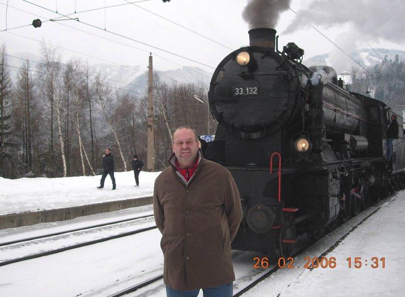 2006 02 26 Dampflokfahrt 33 132 von BB Blue Train über Semmering nach Mürzzuschlag