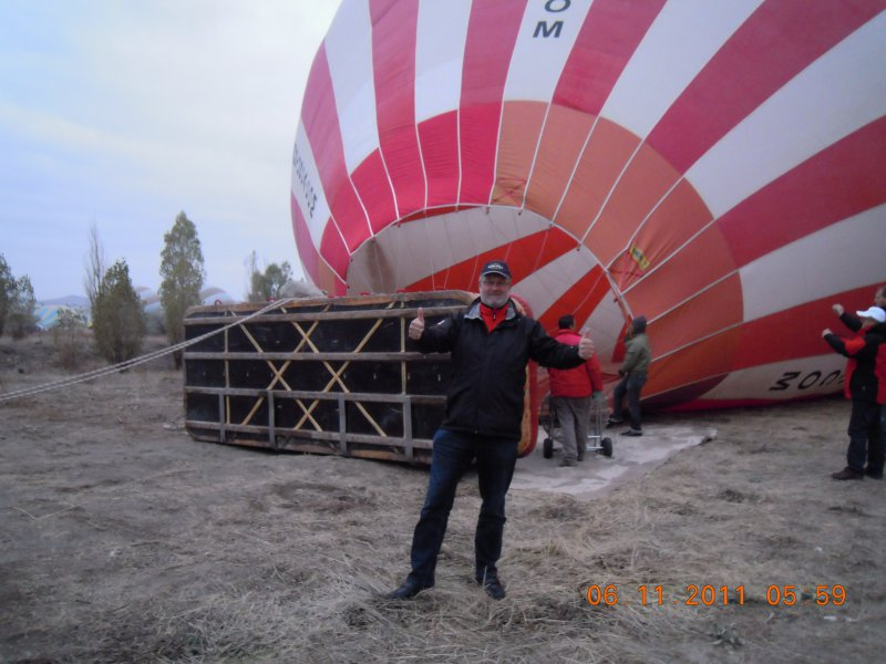 Kapadokien - Befüllung des riesen Ballons