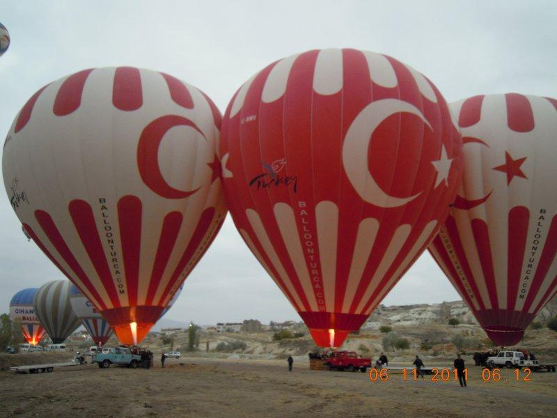 Riesige Ballons für 12-16 Passagiere