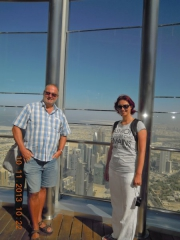 Blick vom Burj Khalifa in 452 m Höhe
