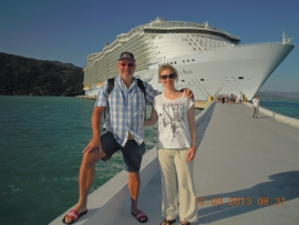 Allure of the Seas_Erste Fotos vor unserem Schiff