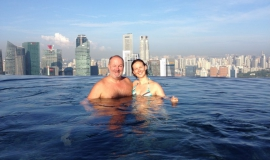 2014 11 07 Singapur Marina Bay Sands Hotel Dachpool