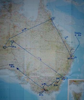 Australienreise Karte Detail