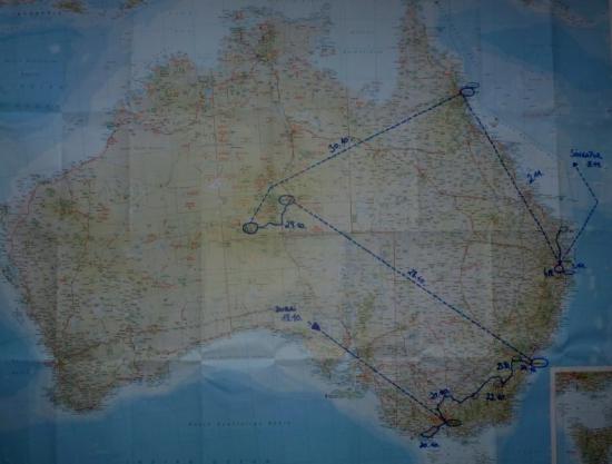 Australienreise Karte Übersicht