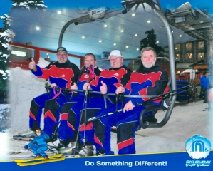 Schifahren in der Skihalle Dubai