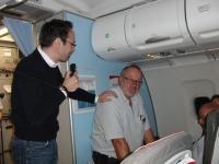 Verabschiedung von Günther Madlberger und Gerald Stutz beim Heimflug