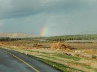Regenbogen auf der Fahrt zum See Genezareth