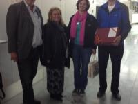 Glückwünsche für Franz Leitner zum Geburtstag am Linzer Flughafen