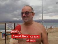 Baden im Toten Meer: ORF-Interview - 120 kg Sager