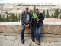 2014 11 23 Reiseleiter Raanan Blick vom Ölberg auf die Altstadt Jerusalems