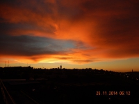 Sonnenaufgang in Jerusalem