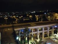 Blick von unserem Hotel über das nächtliche Jerusalem