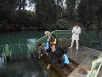 Wasserentnahme aus dem Jordan in Yardenit