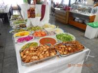 Mittagessen im Restaurant Abu Ramzi im Drusendorf Daliat el Carmel