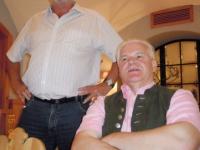 Abendliche Stimmung bei Inge und Klaus Schweiger in Bad Ischl