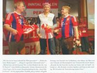 Bericht im FC Bayern-Magazin Seite 1