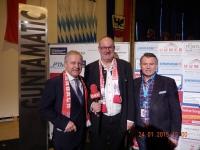 ÖFB-Präsident Dr. Leo Windtner und ORF OÖ Sportchef Reinhard Waldenberger