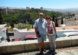 07 05 Albayzin Altstadt von Granada mit Blick auf die Alhambra
