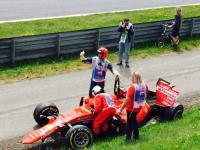 Crash nach der ersten Runde