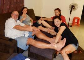 22 03 Kuala Lumpur verdiente Fussmassage