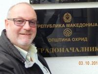 2015 10 03 Mazedonien Stadt und See von Ohrid Tafel