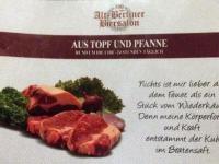 Abendessen im Alt-Berliner Biersalon mit lässigen Sprüchen
