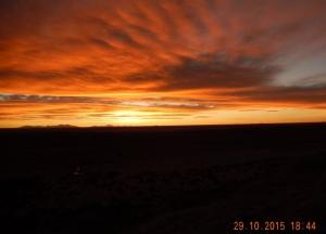 2015 10 29 Uyuni Salzsee Sonnenuntergang