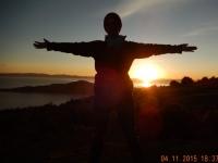2015 11 04 Titicacasee Sonneninsel Sonnenuntergang
