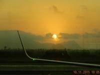 2015 11 10 Lima Sonnenuntergang am Flughafen