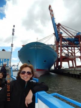 Eines der größten Containerschiffe der Welt