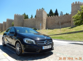 Ganz neues 28 05 Leihauto Mercedes A 180 mit 12 000 Kilometern