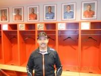 Allianz Arena Fuehrung in der FC Bayern Spielerkabine
