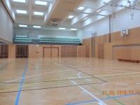 Auch die 3-fach Turnhalle wurde neu renoviert