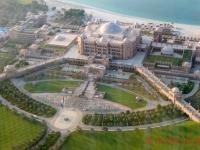 2016 10 26 Abu Dhabi Besuch Etihad Towers Blick auf Emirates Palace