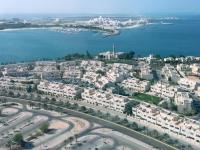2016 10 27 Abu Dhabi Blick vom Skytower der Marina Mall auf den Palast des Scheichs