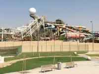 2016 10 27 Abu Dhabi Busstopp bei der YAS Waterworld