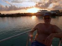 2016 10 31 La Digue Sonnenuntergang am Schiff