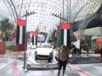 2016 10 27 Abu Dhabi Ferrari World mit weltgrößtem Dach