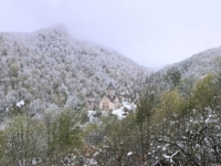 2016 10 19 Dilijan Blick auf Kloster Haghartsin