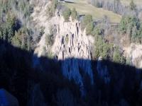 Erdpyramiden auf der Ritten Hinterseite