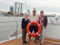 2016 08 13 Rotterdam Erasmusbrücke Isabella Gerald Reiseleiterin Mathilde