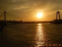 2016 08 13 Sonnenaufgang in Rotterdam