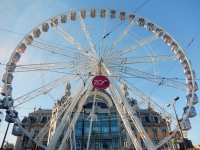 2016 08 15 Antwerpen Riesenrad vor dem alten Bahnhof