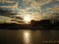 2016 08 15 Antwerpen Sonnenaufgang im Stadthafen