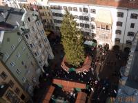 2016 12 11 Blick vom Stadtturm auf das goldene Dachl