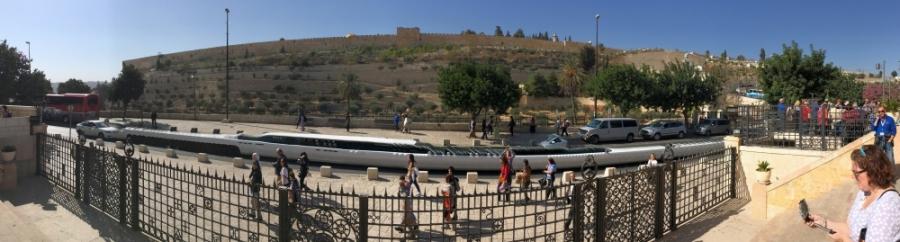 2016 11 21 Jerusalem Blick vom Ölberg auf die Altstadt mit Tempelberg