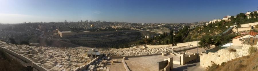 2016 11 21 Jerusalem Blick vom Ölberg auf die Altstadt und jüdischen Friedhof