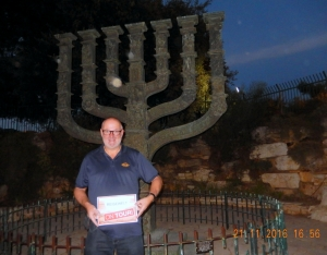 2016 11 21 Jerusalem Menorah gegenüber der Knesset