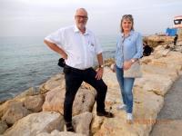 2016 11 19 Tel Aviv Strandpromenade mit Anneliese